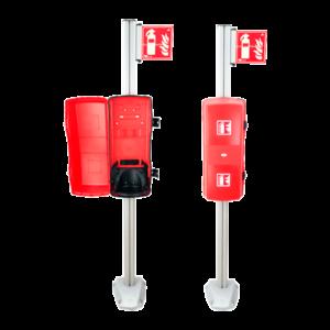 Sistema de columna + armario extintor