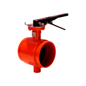 Válvula ranurada con palanca de color rojo