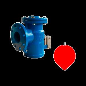 Válvula de flotador angular con boya PVC PN16