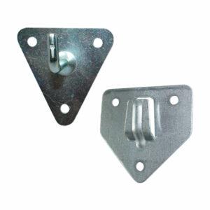 Soportes triangulares de pared para extintores